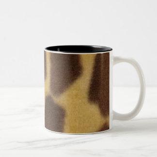 giraffe Two-Tone coffee mug