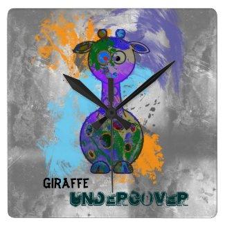 Giraffe Undercover Wall Clock