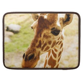 Giraffe Up Close MacBook Pro Sleeves