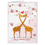Giraffe Valentine Greeting Cards