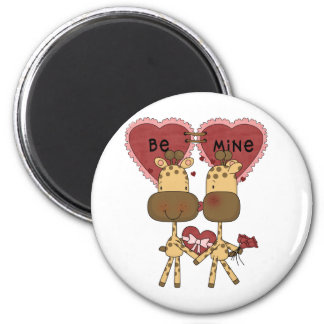 Giraffe Valentine Love  T-shirts and Gifts Magnet