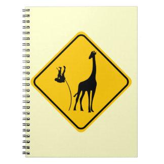 Giraffe Vaulting Spiral Notebook