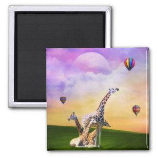 Giraffe Watching Balloons Magnet