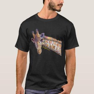 Giraffe Watercolor Summer Dark T Shirt
