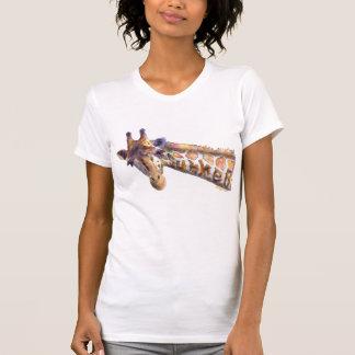 Giraffe Watercolor Summer Tank T Shirt