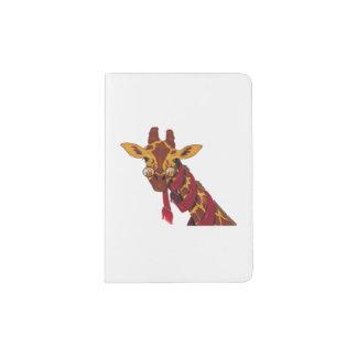 Giraffe Wearing Glasses Passport Holder