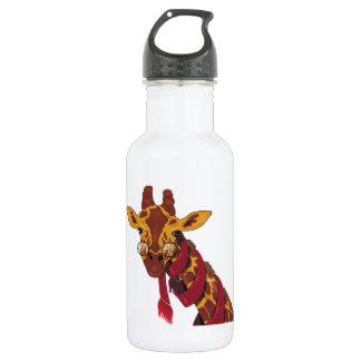 Giraffe Wearing Glasses Water Bottle