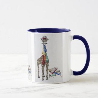 Giraffe wearing Neckties Mug