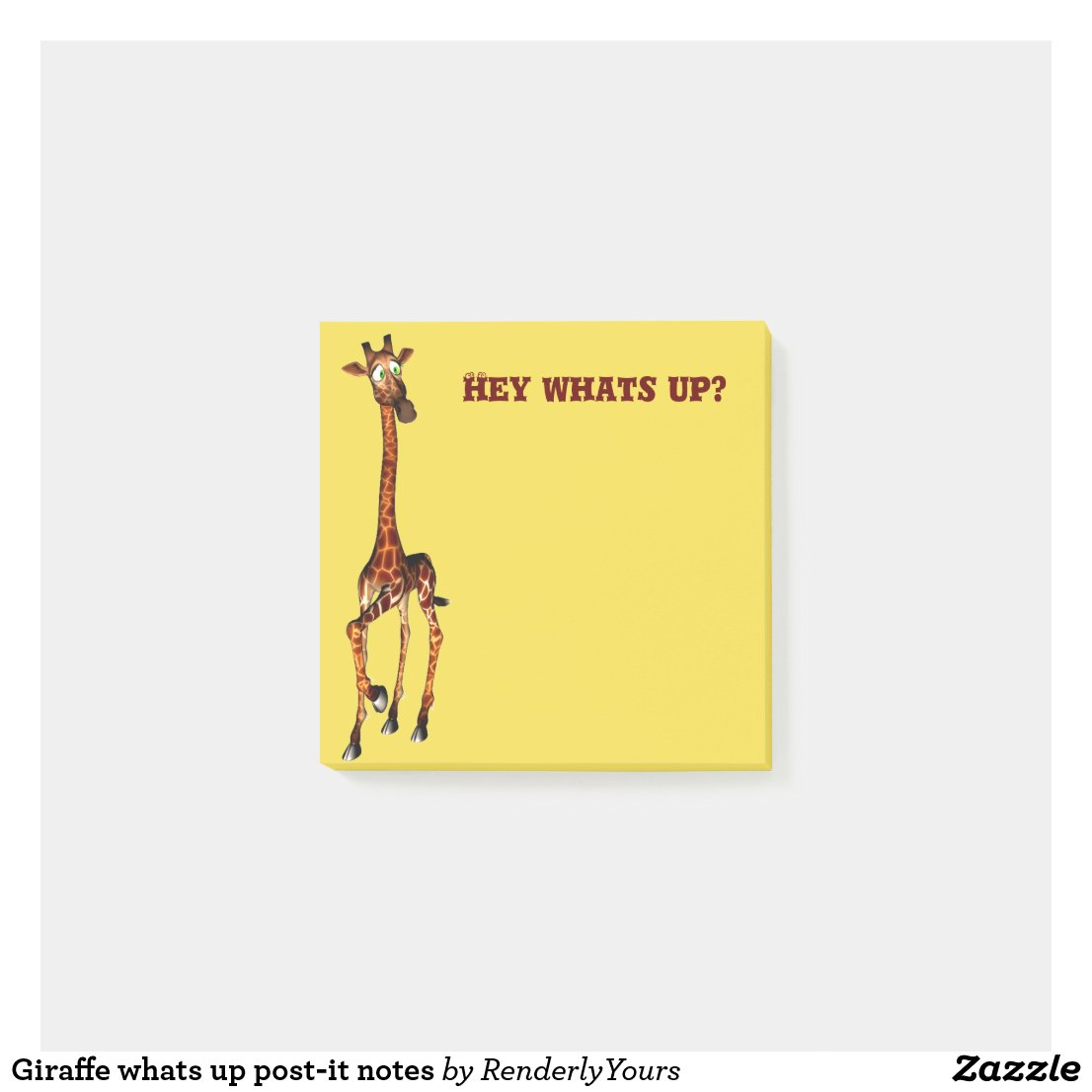 Giraffe whats up post-it notes