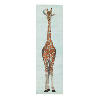 GIRAFFE &  WHITE BIRD PANEL WALL ART