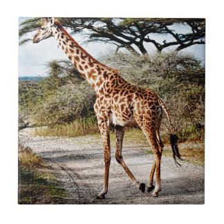 Giraffe Wild Animal Africa pattern print Ceramic Tile