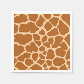 Giraffe wild jungle animal fashion glamour paper napkin