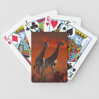 Giraffe wild life series bicycle playing cards