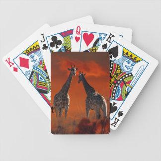 Giraffe wild life series bicycle playing cards