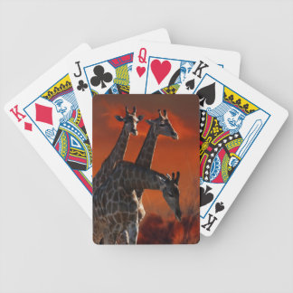 Giraffe wild life series bicycle card deck