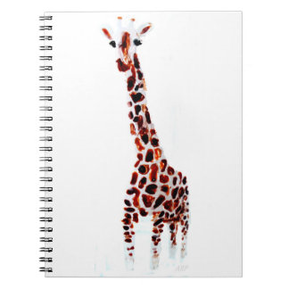 Giraffe Wildlife Art Notebook