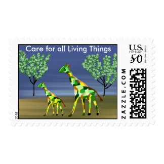 Giraffe Wildlife Postage Stamps