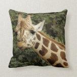 Giraffe Wildlife Throw Pillows