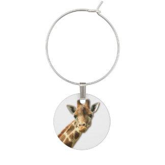 Giraffe Wine Charm