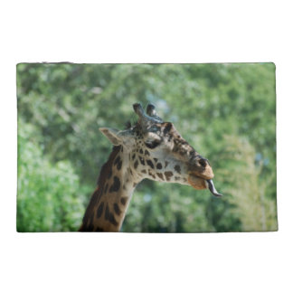 Giraffe with a Long Tongue Travel Accessory Bag