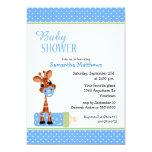 Giraffe with Baby Bottle Shower Invites