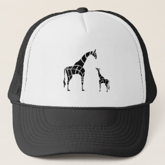 Giraffe with Calf Trucker Hat