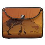 giraffe with her baby safari style family love MacBook pro sleeves