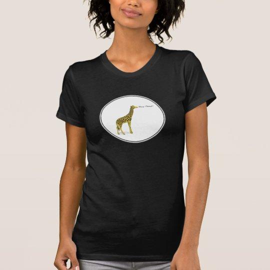 """Giraffe with long neck asking """"Deep Throat?"""" T-Shirt"""