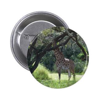 Giraffe with Long Neck Button