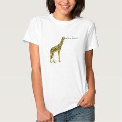 "Giraffe with long neck saying ""Deep Throat?"" T Shirt"