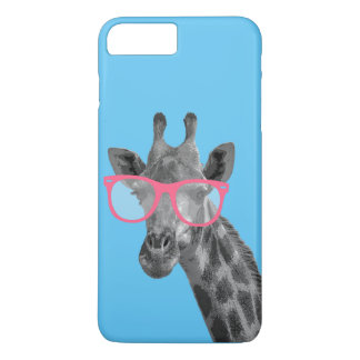 Giraffe with Pink Glasses Cute Funny Phone 7+ Case