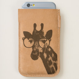 Giraffe with Pink Glasses Cute Funny Phone Case