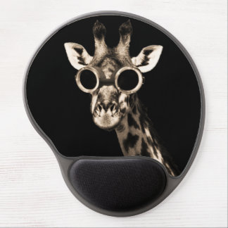 Giraffe With Steampunk Sunglasses Goggles Gel Mouse Mat