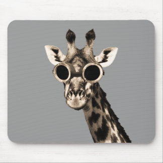 Giraffe With Steampunk Sunglasses Goggles Mousepads