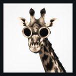 "Giraffe With Steampunk Sunglasses Goggles Photo Print<br><div class=""desc"">It&#39;s sure to be interesting.  I bet his name is Rommel.  Nice vintage,  absurd look.</div>"