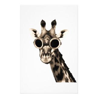 Giraffe With Steampunk Sunglasses Goggles Stationery