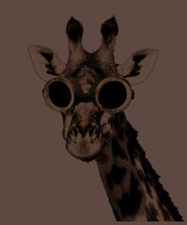 Giraffe With Steampunk Sunglasses Goggles T-shirts