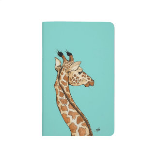 Giraffe with teal background journals
