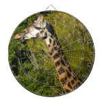 Giraffe with Tongue Sticking Out Curled Up Dartboard