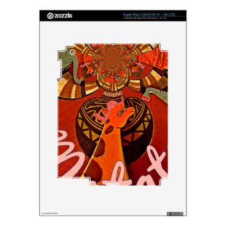 Giraffe with two ponytails art skins for iPad 3