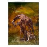 Giraffe World ArtCard Greeting Card