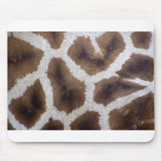 Giraffe wrapping paper skin mouse pad