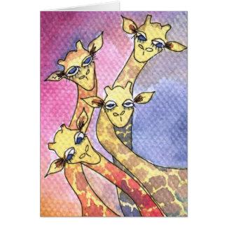 Giraffe Wtercolor Funny Animal Card