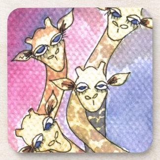 Giraffe Wtercolor Funny Animal Coaster