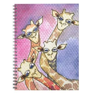 Giraffe Wtercolor Funny Animal Notebook