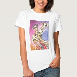 Giraffe Wtercolor Funny Animal T-shirt