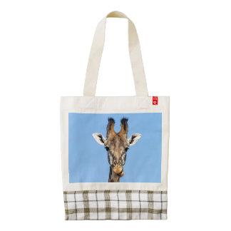 Giraffe Zazzle HEART Tote Bag
