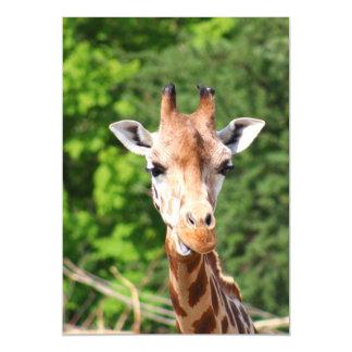 Giraffe Magnetic Invitations