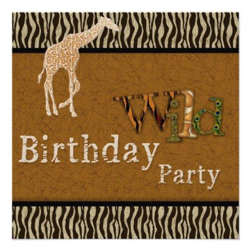 Personalized Zoo birthday party Invitations CustomInvitations4Ucom
