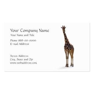 Giraffe Zoologist Business Card